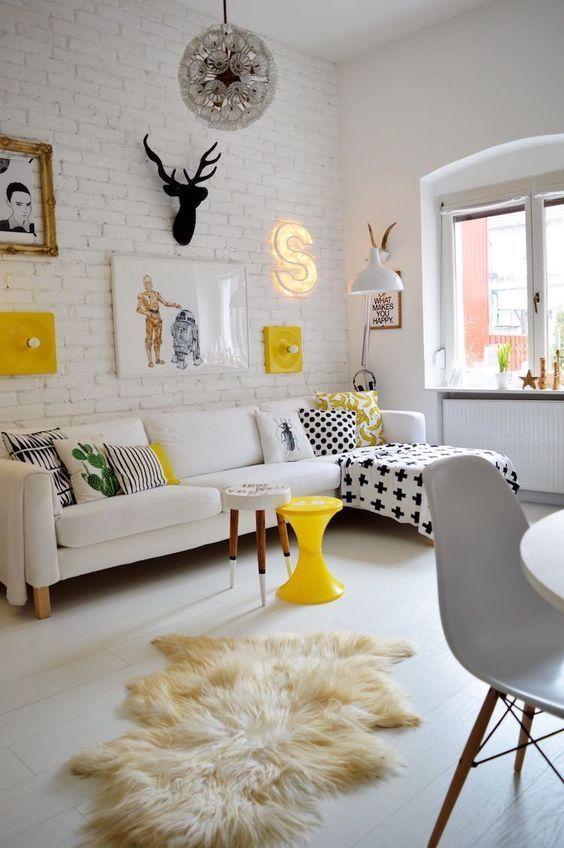 Un Salón pequeño con mucha personalidad