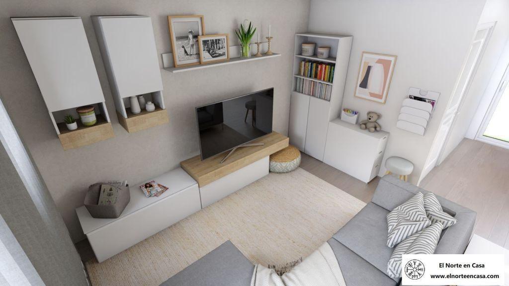 área de manualidades de salón moderno