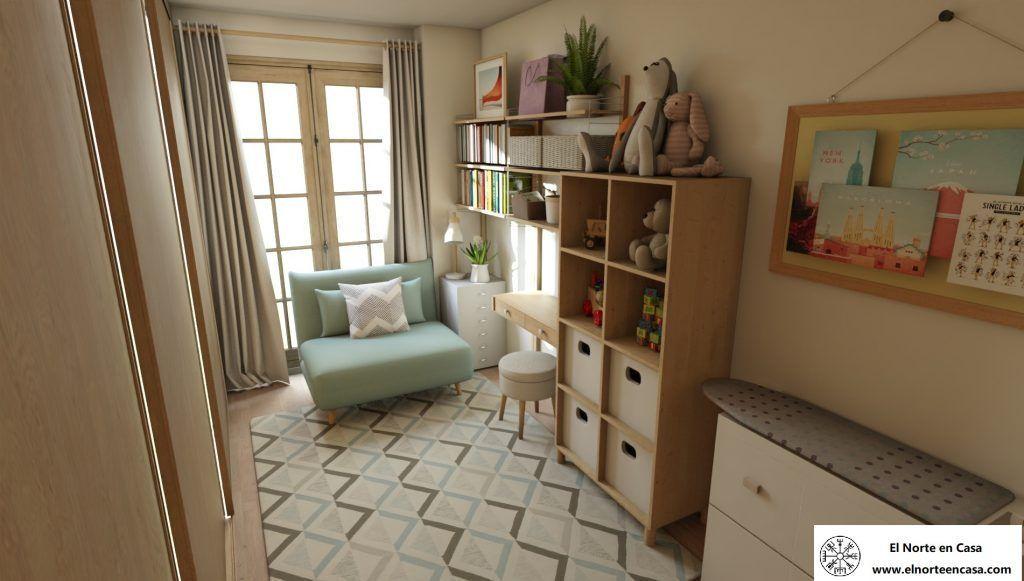 cuarto de invitados vista de sofá cama