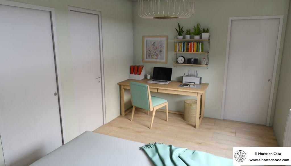 Área de despacho en acogedora casa de estilo escandinavo