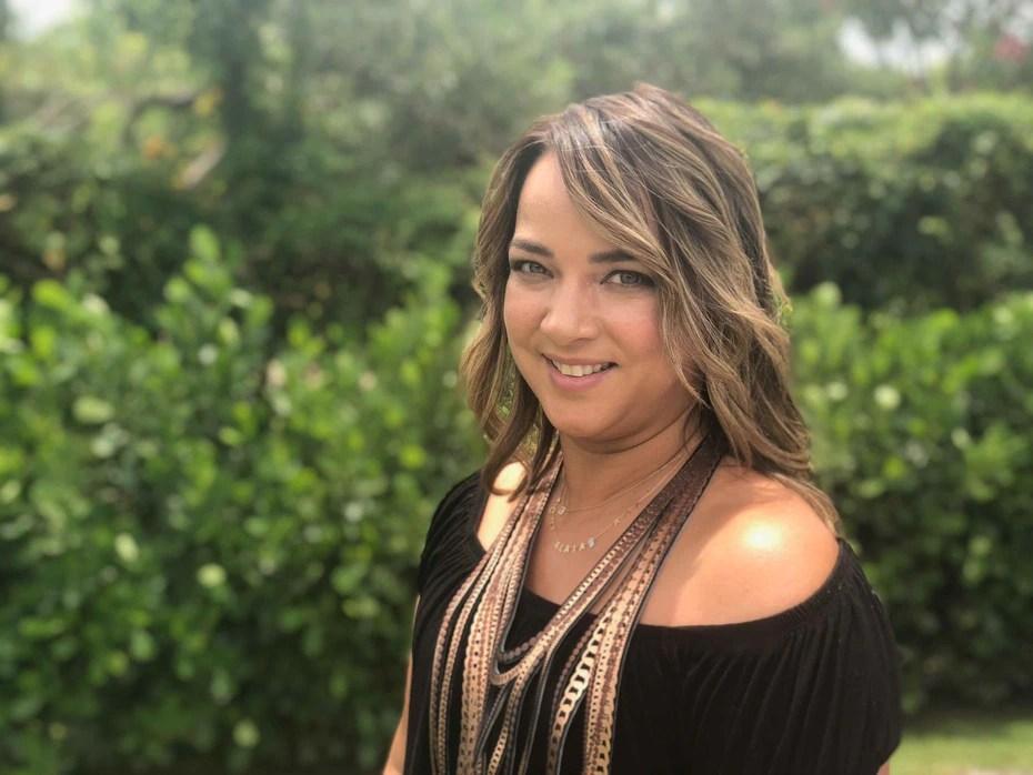 """La presentadora del programa """"Un Nuevo Día"""" durante una sesión de fotos en el 2018."""