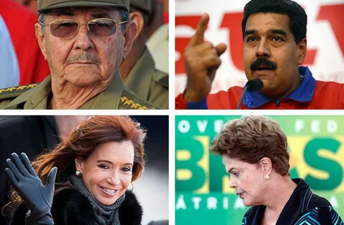 Ya sea por escándalos de corrupción o por la desaceleración de las economías, la popularidad de los gobiernos latinoamericanos de izquierda, que han estado en el poder desde inicios del milenio, parece estar disminuyendo.