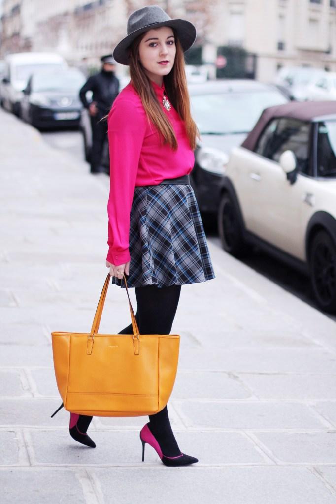 rose fuchsia blouse