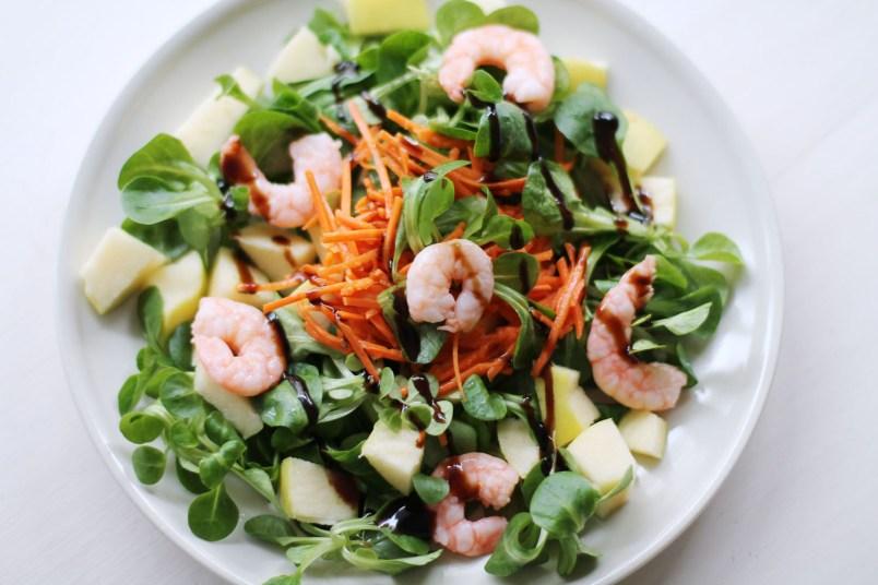 salade crevette pomme carottes