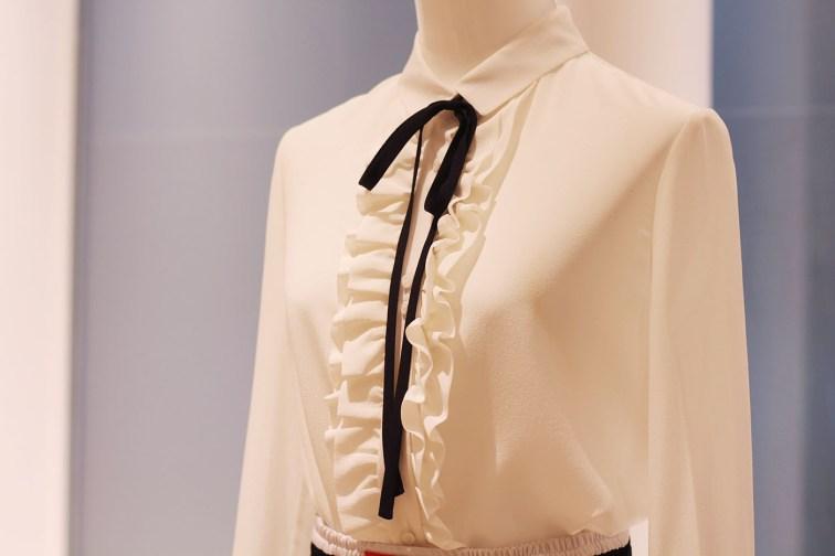 blouse blanche preppy