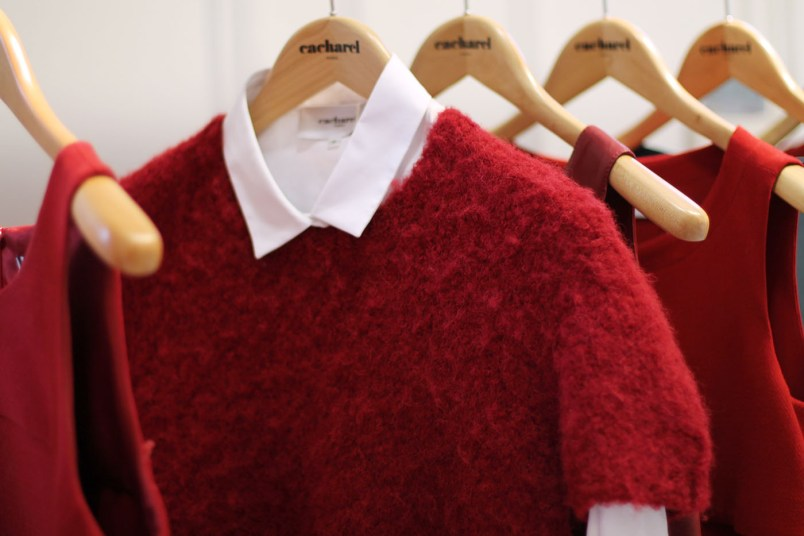 pull rouge mohair
