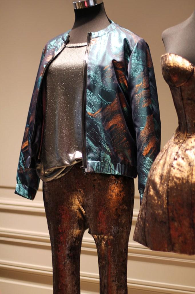 metallic clothes