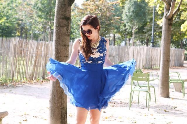 robe bleu transparente