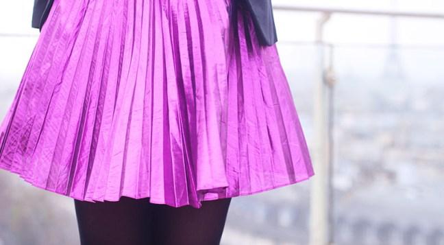 jupe metallique
