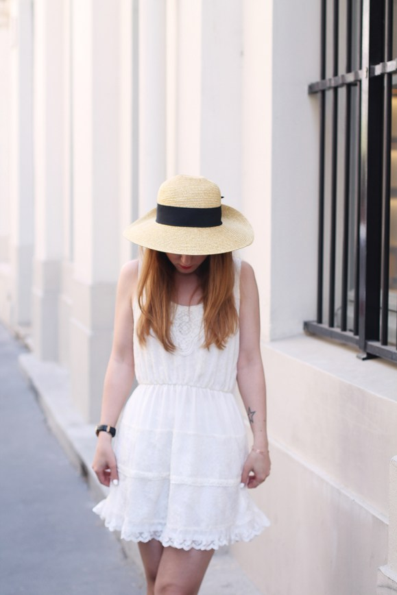 look white dress