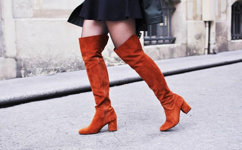 thigh high boots zara camel