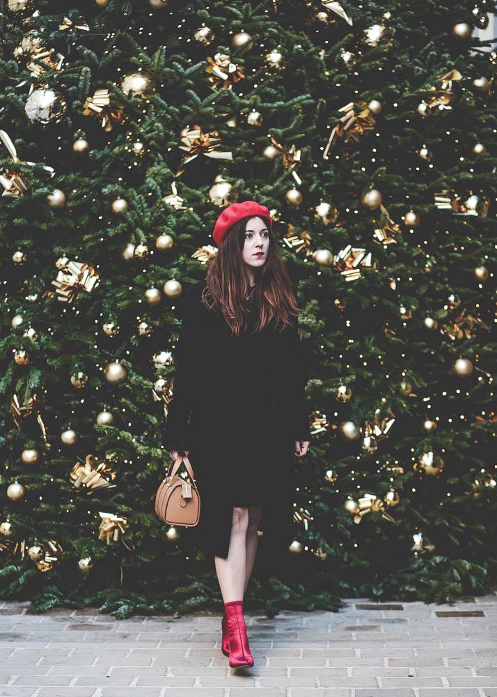 manteau noir Agnès B