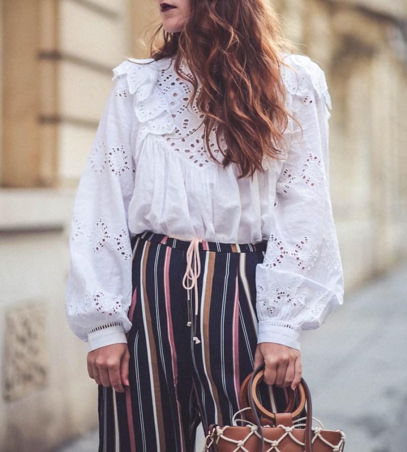blouse brodée