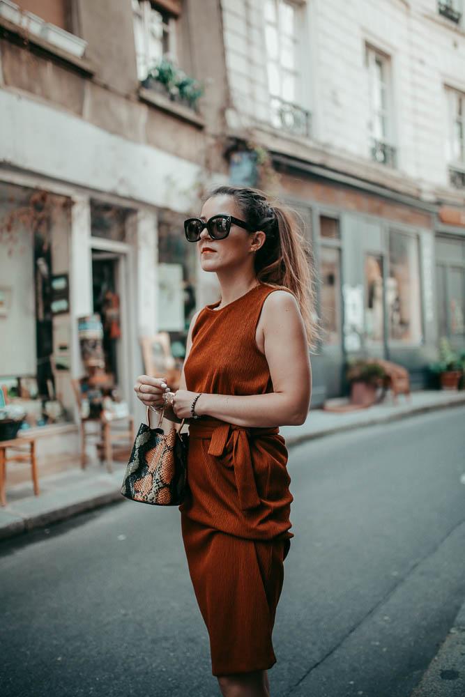 lunettes Céline robe rouille