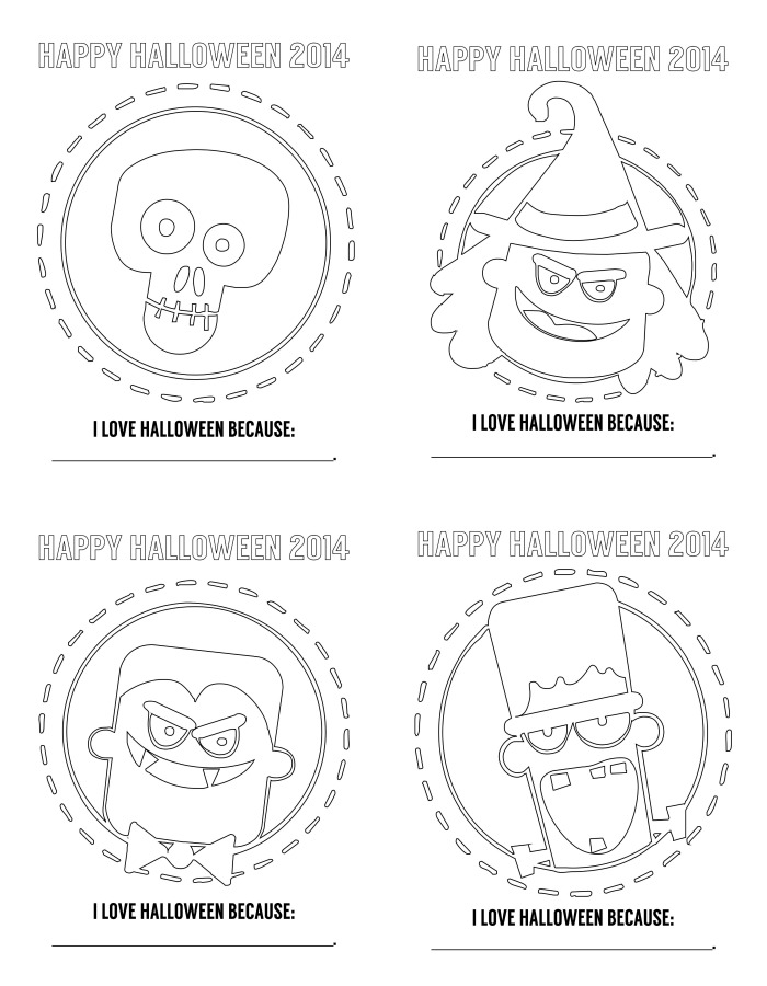 151030 free halloween coloring pages Happy scary coloriage !