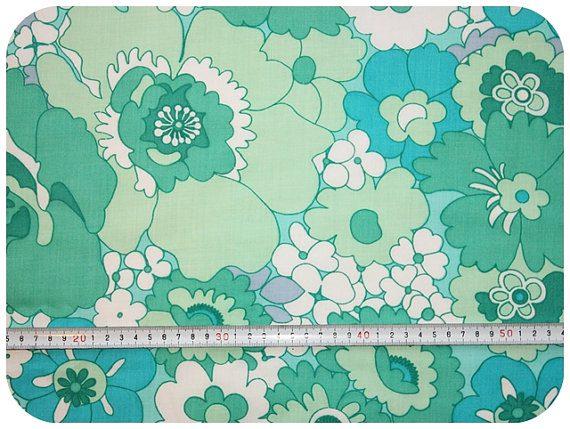 140722 tissu vintage mint  Les jolis imprimés : les tissus