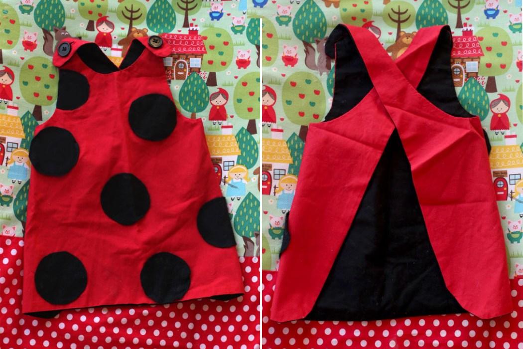 160203 deguisement coccinelle Une robe coccinelle pour les tout petits vite fait, bien fait !