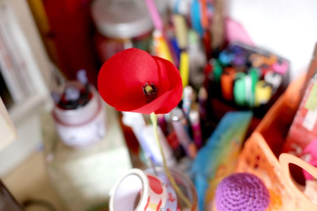 160221 concentre fleur papier Gentils coquelicots mesdames, gentils coquelicots crépon ...