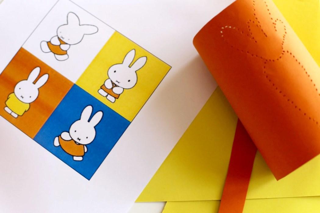 160314 miffy paper diy paques Photophore de Pâques Miffy (DIY ultra Express)