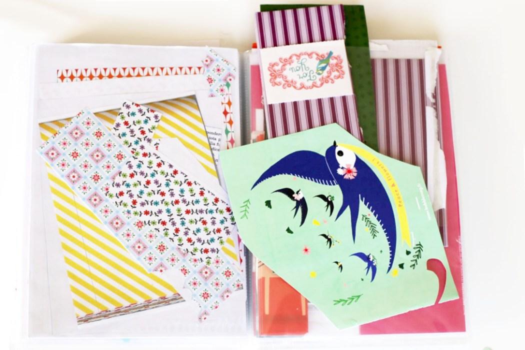 160411 cahier a collages Sur le fil : entre collage et cartes postales (SHYT)