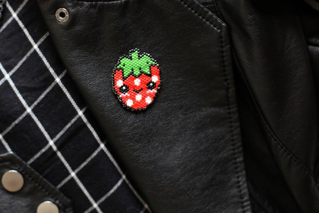 160421 fraise kawaii miyuki Un Mexican Skull Patch pour le Hellfest