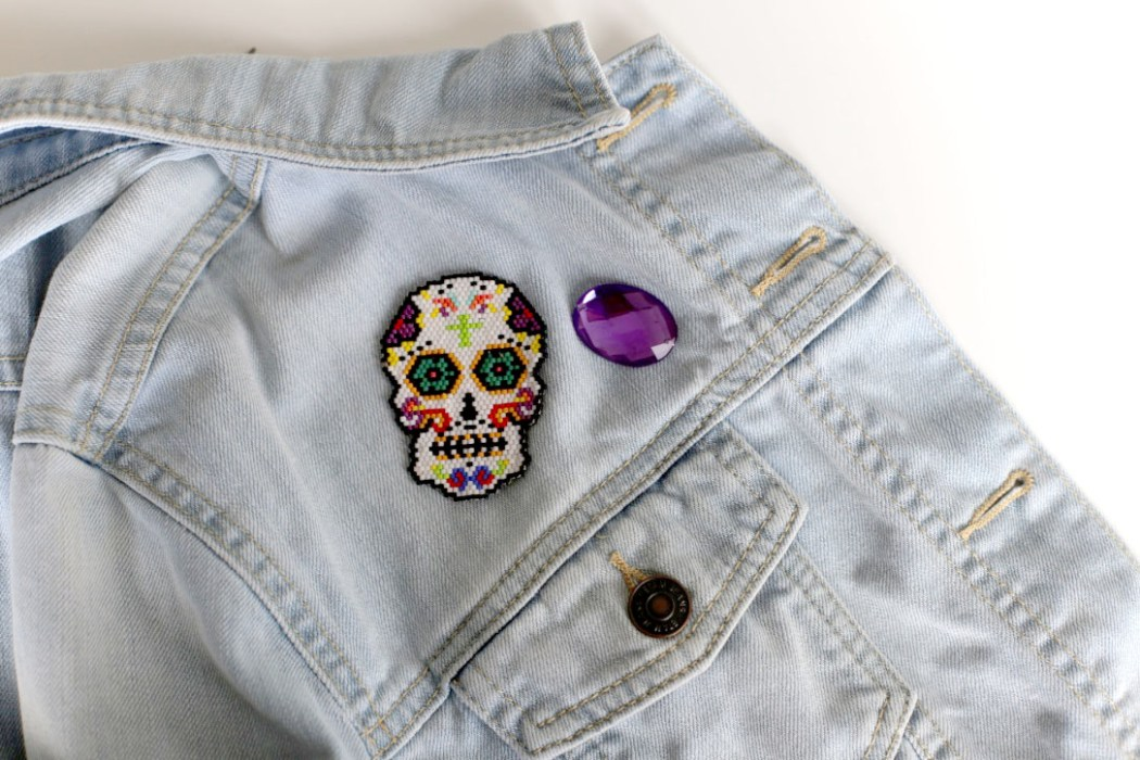 160428 mexican skull bead miyuki Un Mexican Skull Patch pour le Hellfest
