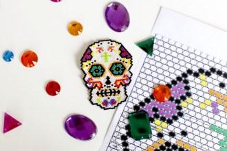 mexican skull beads miyuki 4
