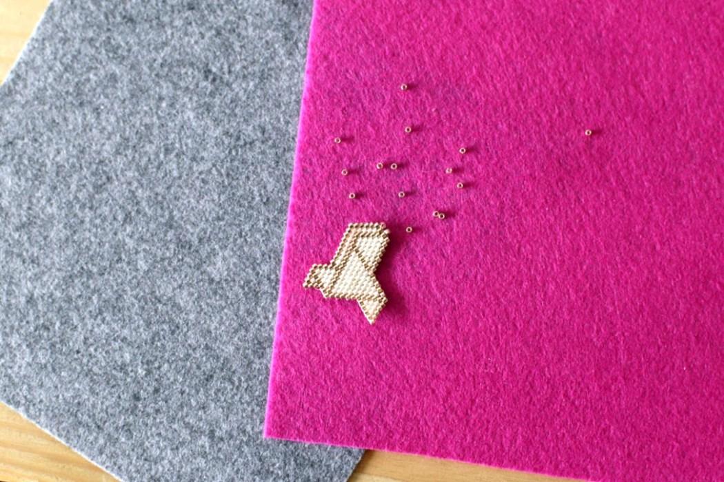 160523 oiseau origami miyuki tissage beads Complètement Miyuki ! Mon retour dexpérience