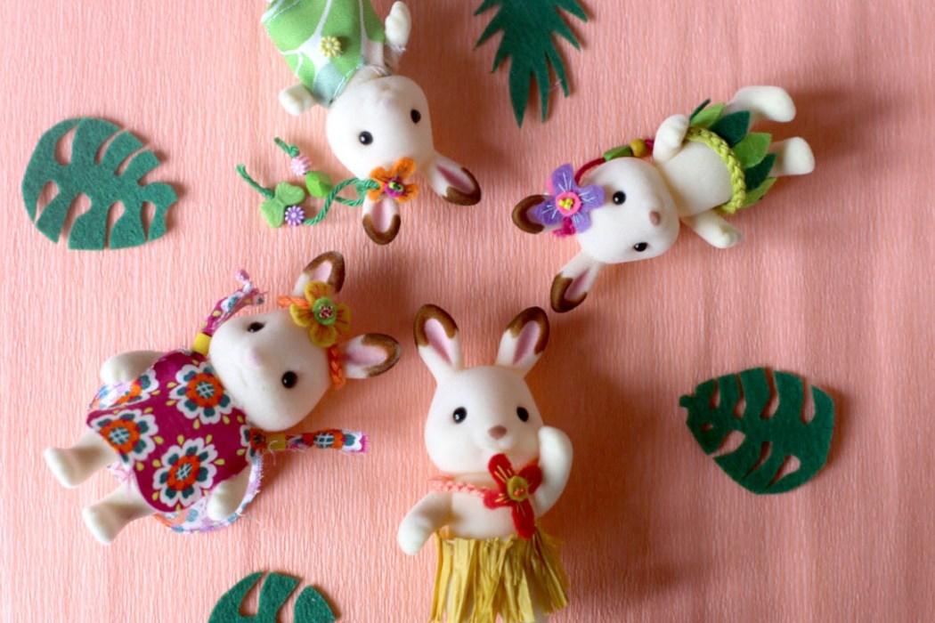 160623 hawaii sylvanian famille lapin chocolat Aloha Sylvanian Family (DIY tenues)