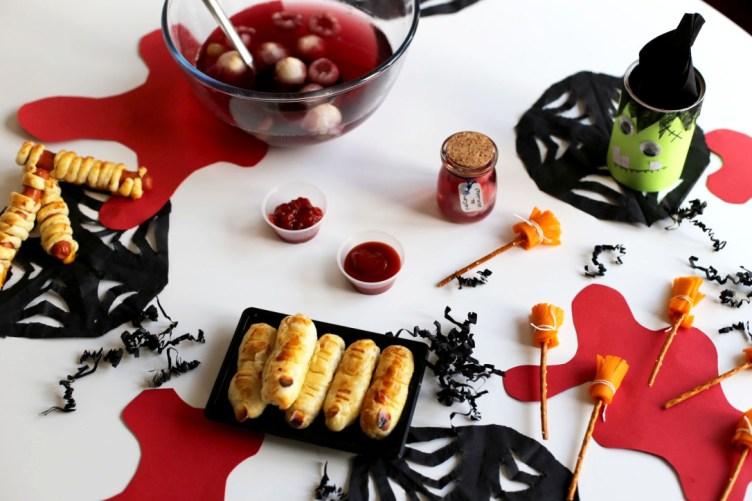 Une table de sorcière pour Halloween