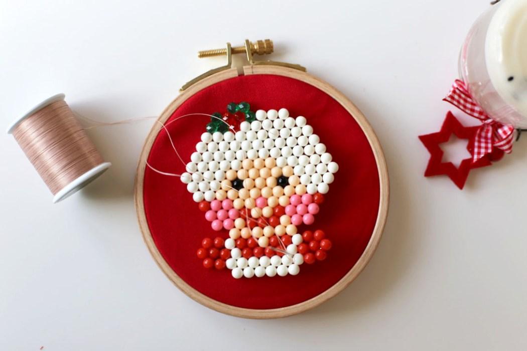 161120 mere noel christmas time aquabeads Le portrait de la Mère Noël en Aquabeads