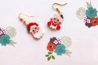 Mes boucles d'oreilles Kitsch de Noel en Miyuki