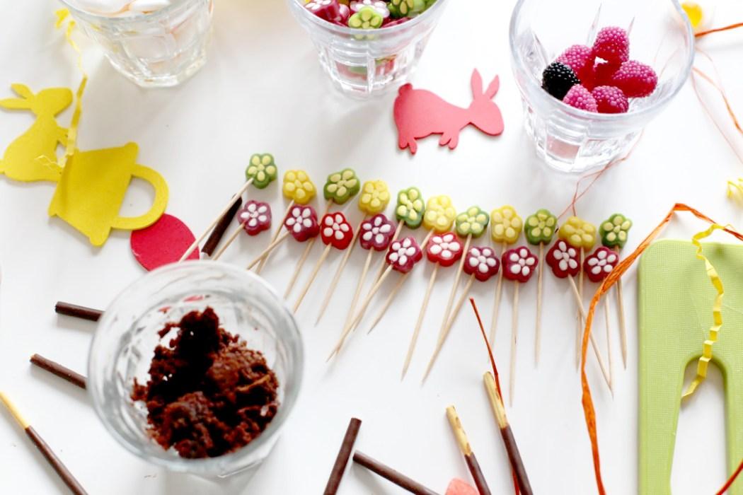 170315 bonbons fleurs Le gâteau jardinier (pour se préparer à accueillir le lapin de Pâques)