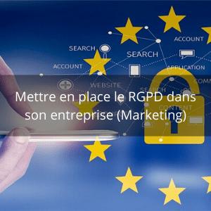 Formation RGPD dans son entreprise (Marketing)