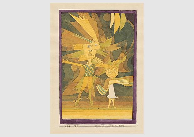 Paul Klee, Genii (Figures from a Ballet), 1922, 122, pen, watercolour and pencil on paper on cardboard, 24 x 16,4/15,9 cm, Zentrum Paul Klee, Bern