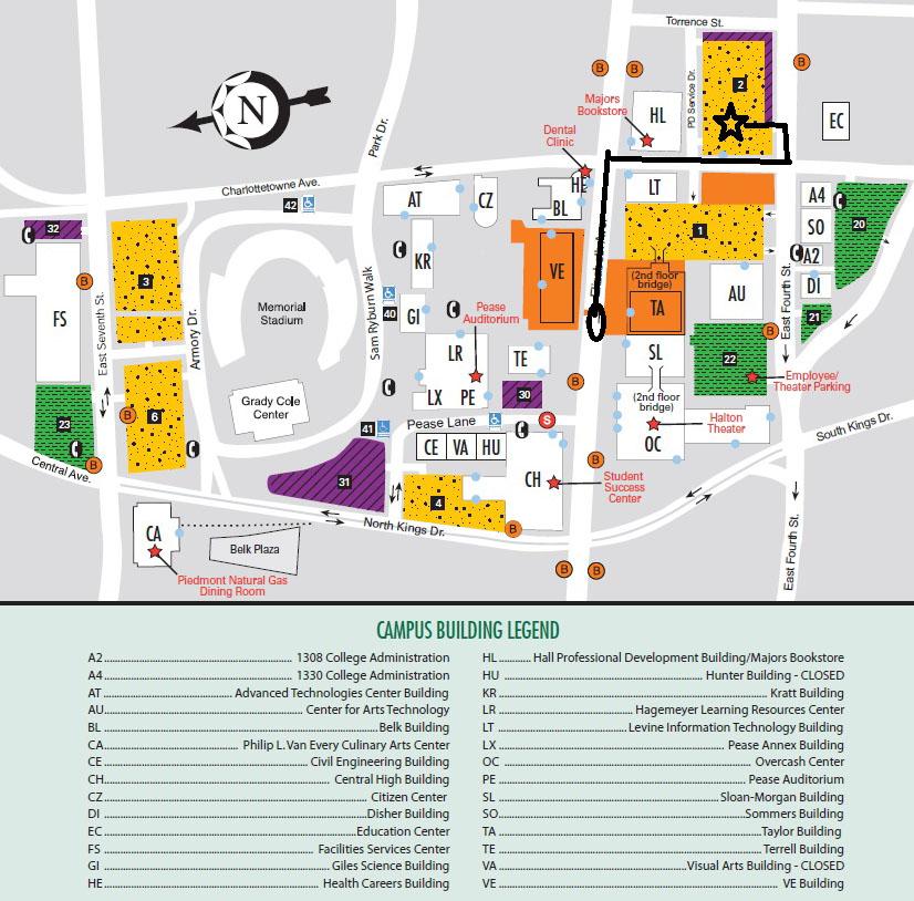 Central Cpcc Building Map Elizabeth Campus