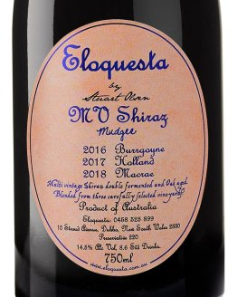 Eloquesta MV (Multi Vintage) Shiraz label