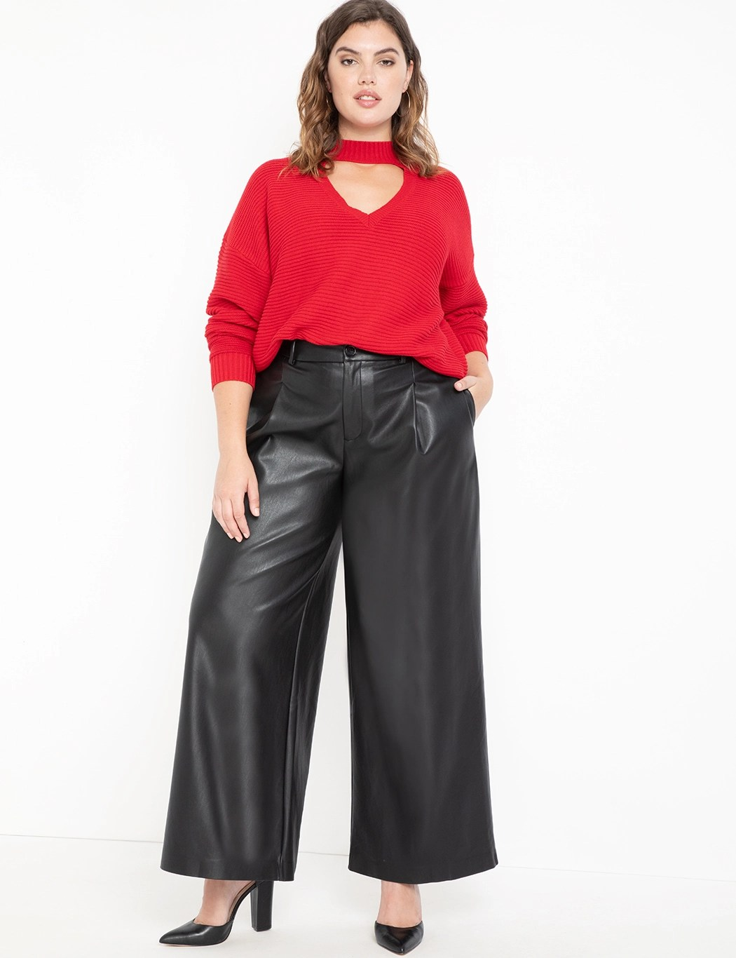 Vegan Leather Wide Leg Pant 3