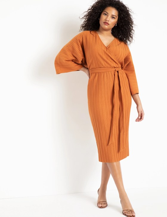 Pleated Wrap Dress 8