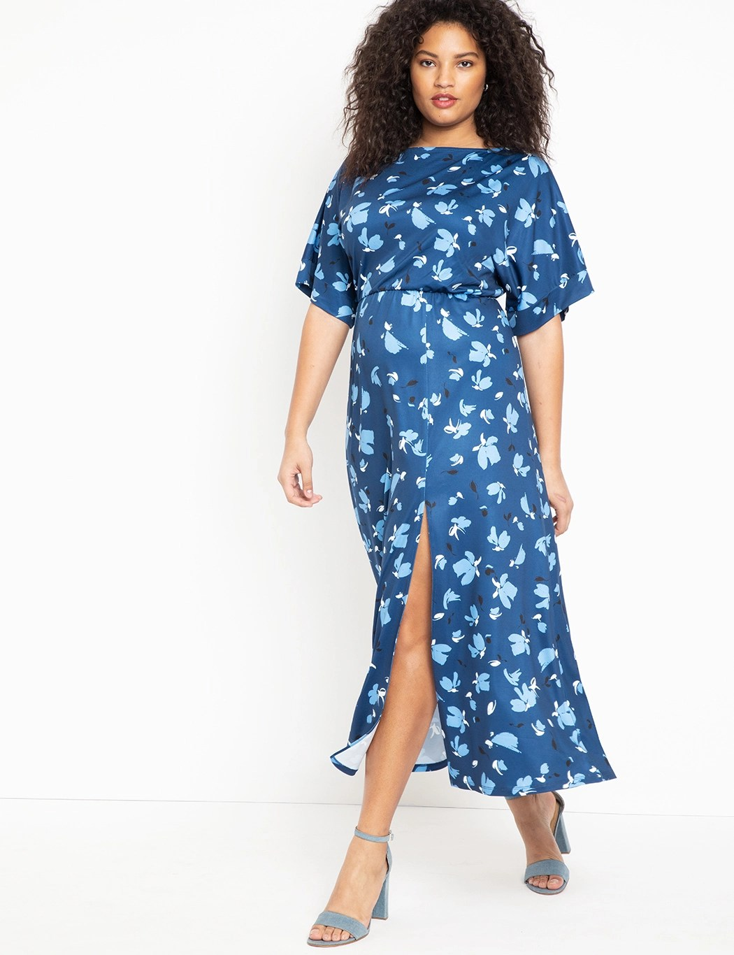 Dolman Sleev Maxi Dress with Slit 6