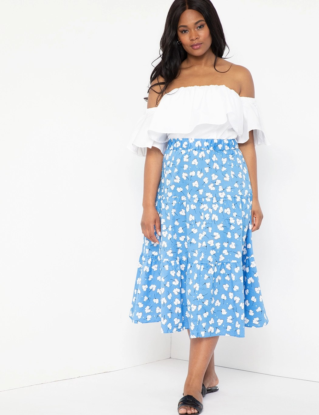 Tiered Maxi Skirt 11