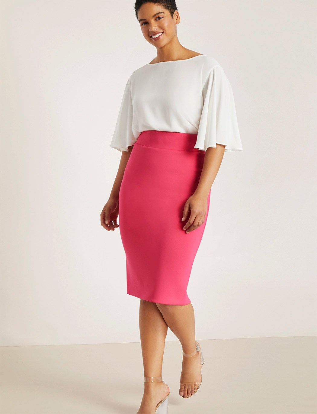 Neoprene Pencil Skirt 6
