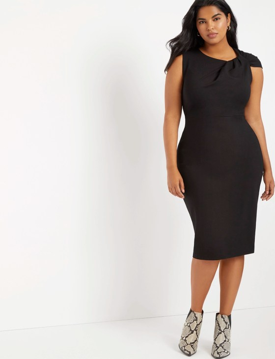 Twisted Shoulder Sheath Dress 2