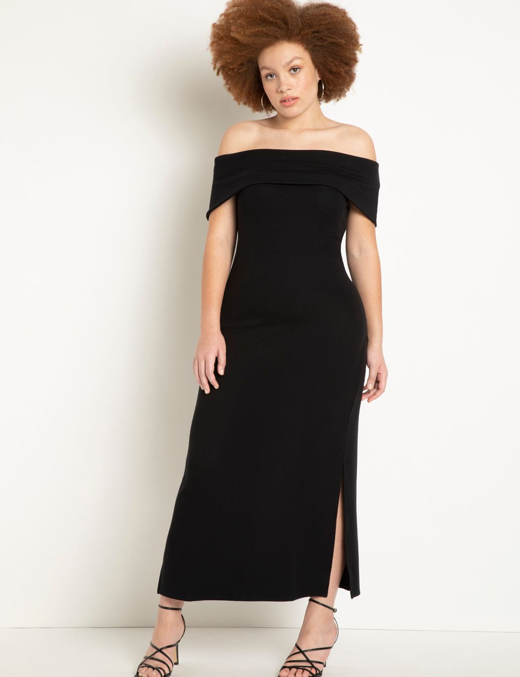 Off The Shoulder Maxi With Side Slits