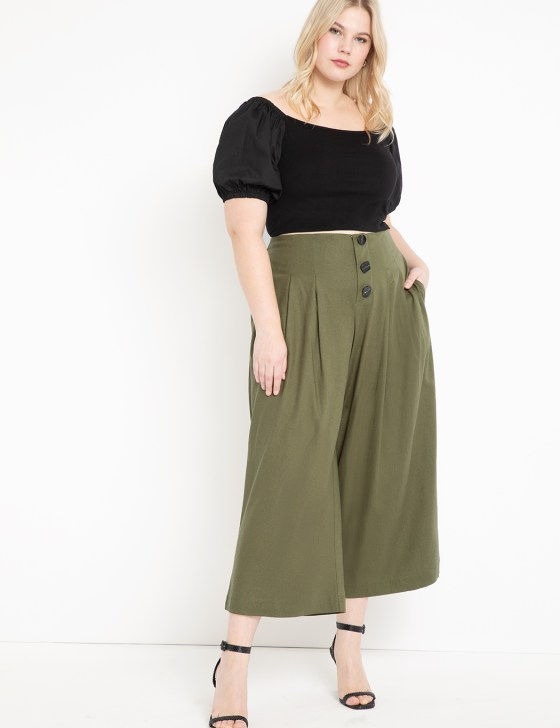 Pleated Crop Pant 4