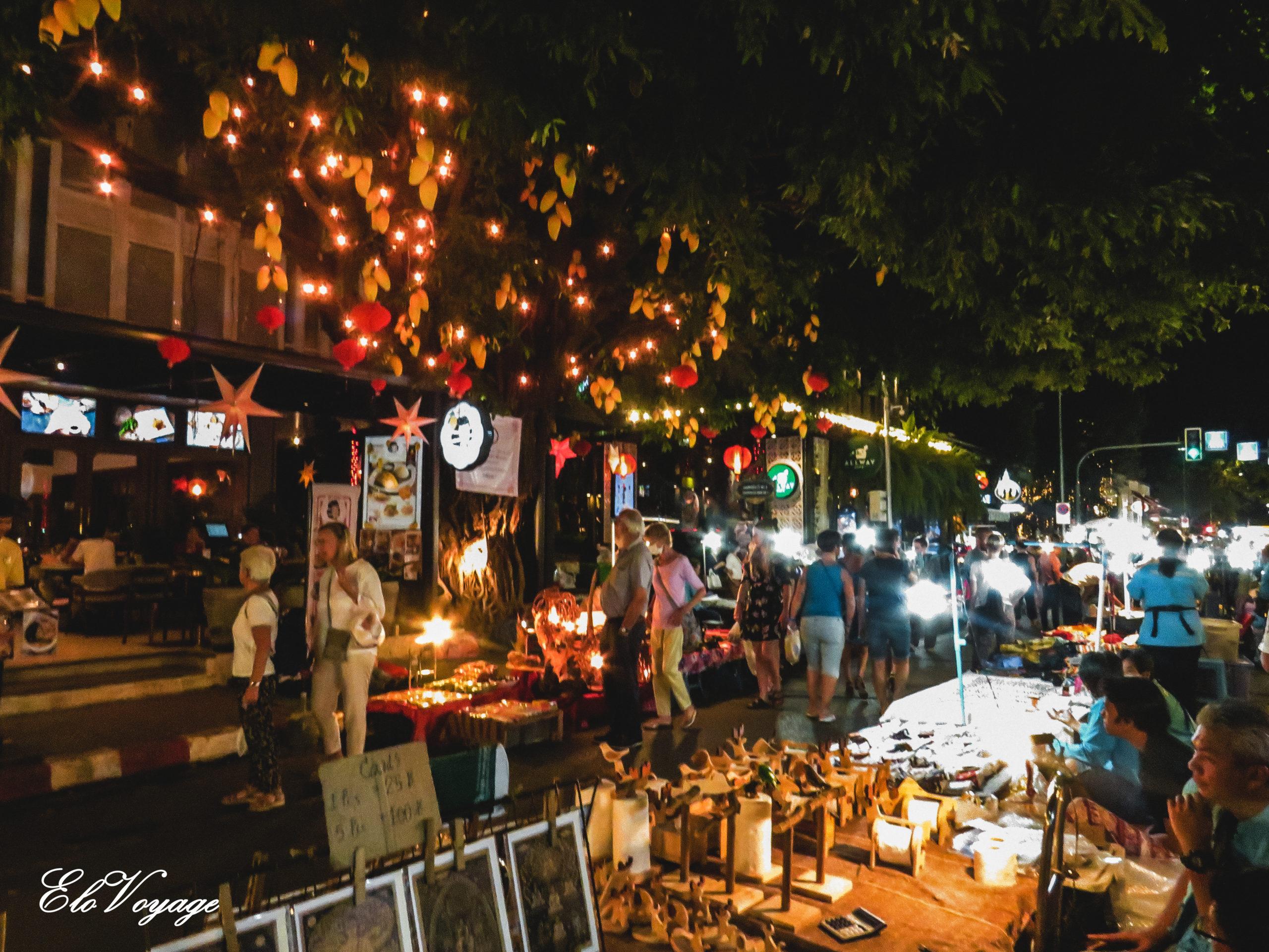 sunday market chiang mai thaïlande
