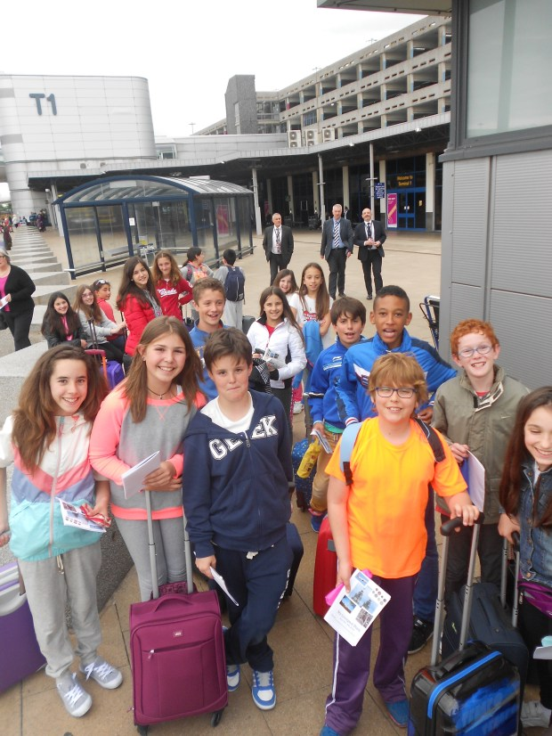 We arrived  at Manchester Airport after a great flight. For soome of us it was our FIRST flight and it was