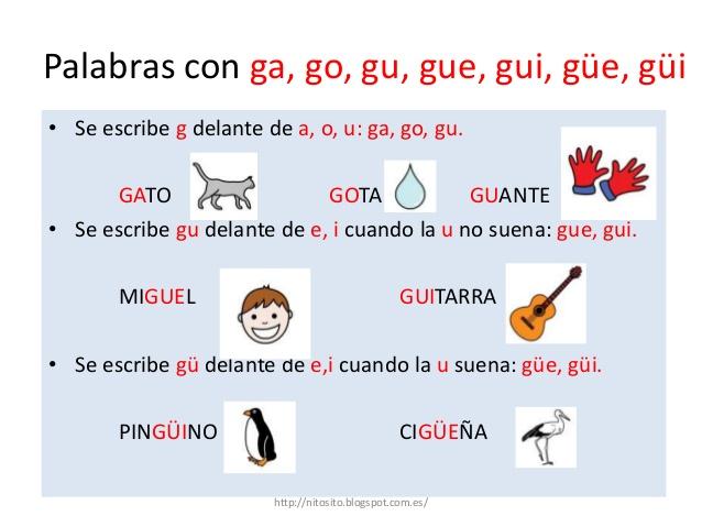 Palabras Con Gue Y Gui Con Dieresis Ejemplos Colección De Ejemplo