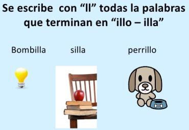 PALABRAS TERMINADAS EN -ILLO – ILLA
