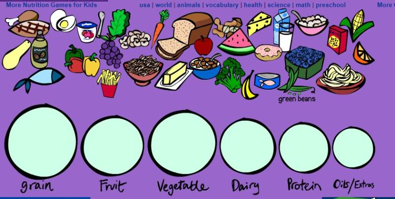 FOOD GROUPS GAME